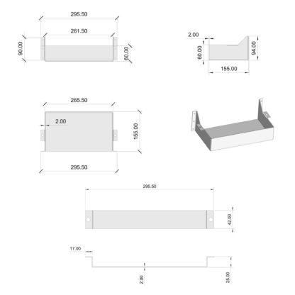 Полка для аккумуляторных батарей КАБ-1207 - размеры