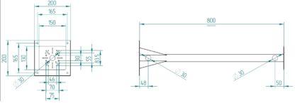 Крепление для термошкафа КМА-НС - размеры