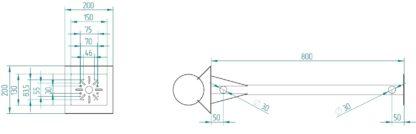 Крепление для термошкафа КМА-НМ - размеры