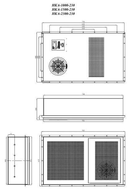 Кондиционер НКА-3000-230 - размеры
