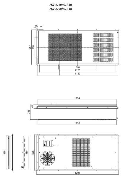 Кондиционер НКА-2000-230 - размеры