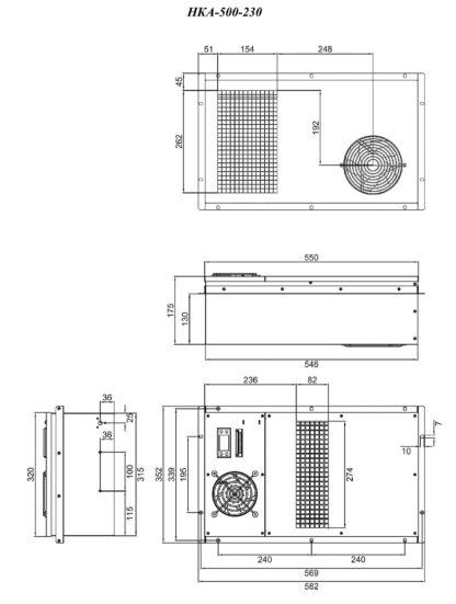 Кондиционер НКА-500-230 - размеры