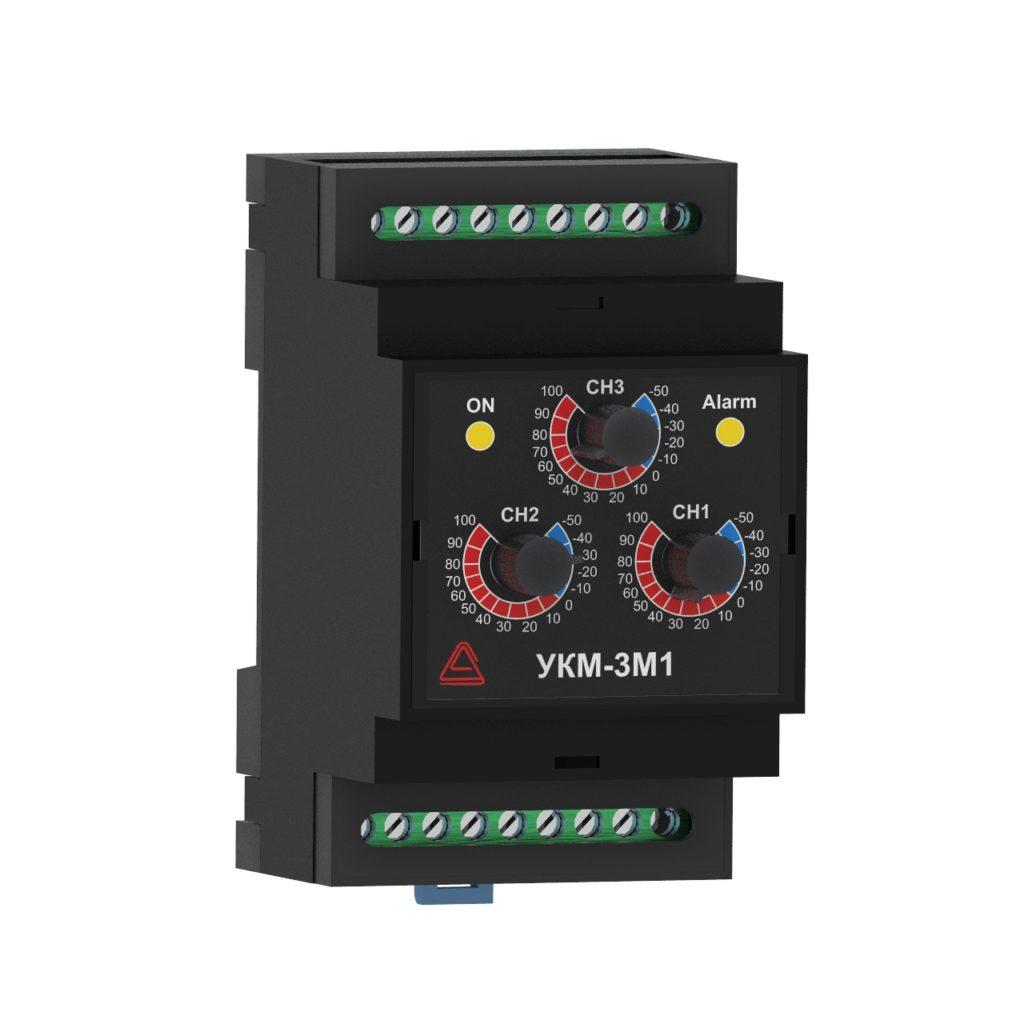 Устройство контроля микроклимата УКМ-3М1 с механическими регуляторами