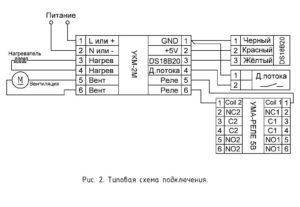УКМ-2М - схема подключения