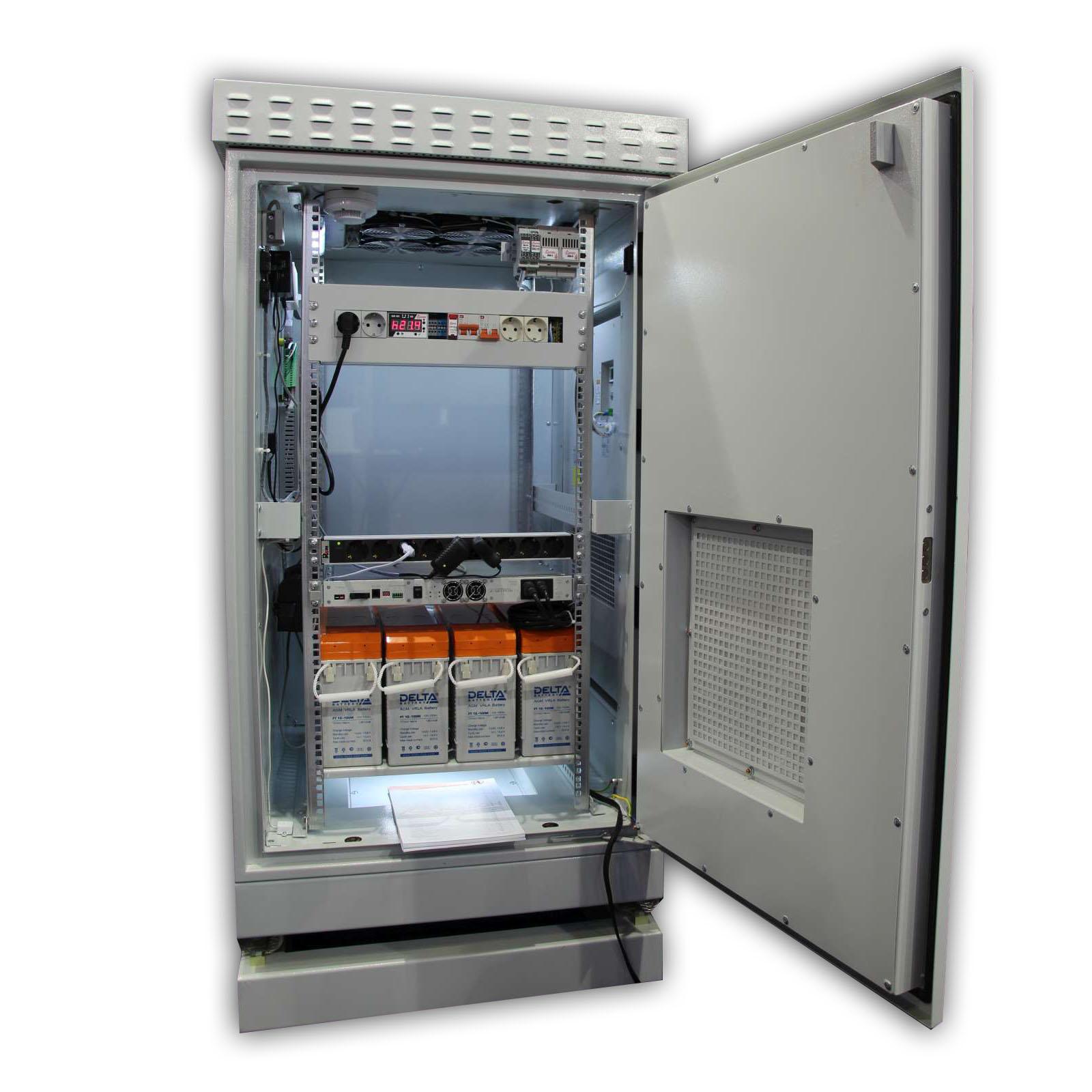 Термошкаф «Амадон» антивандальный, двустенный, 750х1200х800, с ИБП, виброгасителями и удаленным мониторингом на базе Uniping v3