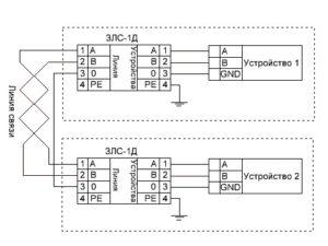 ЗЛС-1Д - схема подключения