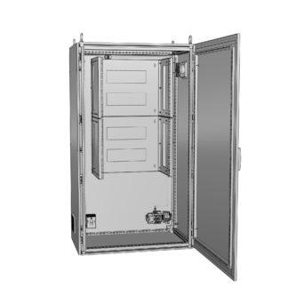 """Термошкаф для 19 оборудования с обогревом и вентиляцией """"Амадон"""" ТША212"""