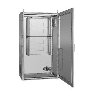 """Термошкаф для 19 оборудования с обогревом и вентиляцией """"Амадон"""" ТША222"""
