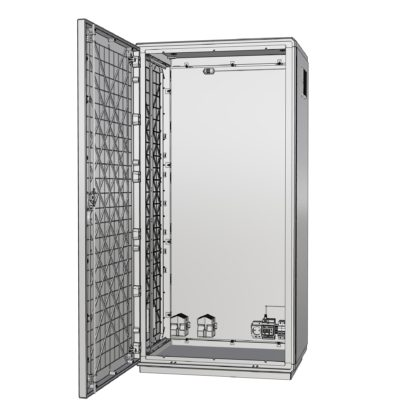 """Термошкаф пластиковый для 19 оборудования с обогревом и вентиляцией """"Амадон"""" ТША312"""