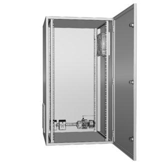 """Термошкаф для 19 оборудования с обогревом и вентиляцией """"Амадон"""" ТША313"""